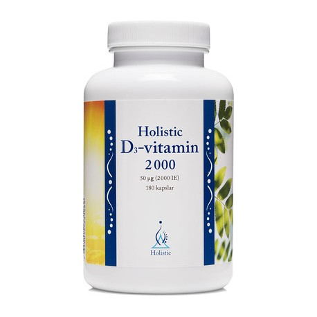 Holistic D3-vitamin 2000 IE 90 kapslar